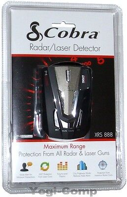 Cobra XRS-888 XRS888 14 Band Laser Radar Detector w/ Voice NEW