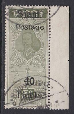 Thailand 1907 Fiscal 40 TICAL Issue  Used...See Scan for Detail...