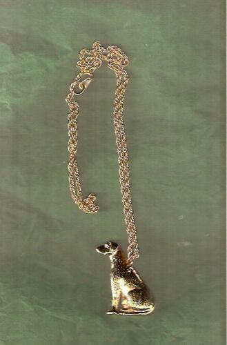 """Rhodesian Ridgeback Gold Plated Necklace Pendant with 20"""" Chain Jewelry*"""