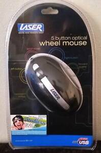 Brand New Laser 5 button Optical Wheel Mouse