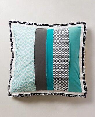 Anthropologie MANDALAY Euro Pillow Sham Cotton Geometric Colorblock NWT