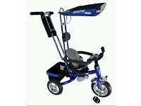 Kiddo metallic blue trike with chrome (brilliant condition) BARGAIN!!!