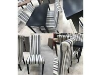 BARGAIN! DINING SET! FABRIC CHAIRS! MODERN DESIGN! ASSEMBLY!