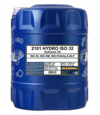 Aceite Hidraulico ISO 32 Maquinaria Camiones Hydro MANNOL 20L