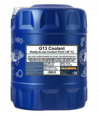 20 L Coolant Antifreeze G13 Green Ready Mixed -30°C / +125  German Hi Spec