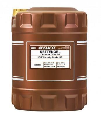 Aceite Motosierra Cadena Sierras Gasolina Eléctricas Mineral ISO 100 Pemco 10L