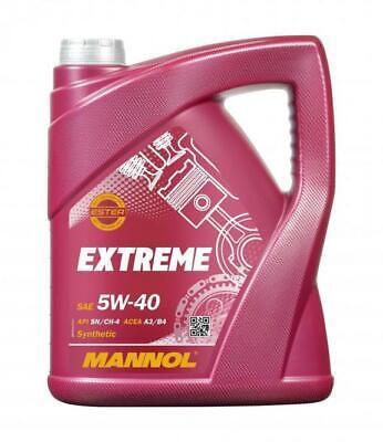 Aceite de motor 5W40 Ester Lubricante para coches MANNOL Extreme 5L
