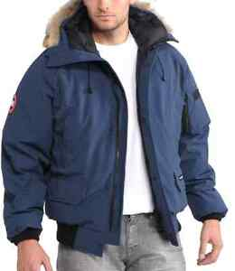 Navy Blue (LARGE) mens Canada Goose Chilliwack Bomber
