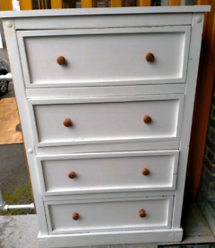 White Solid Tall Drawers