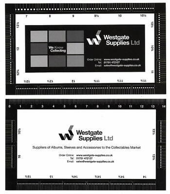 Laminated Card Stamp Perforation Gauge Guide  - Double Sided Brand New FREEPOST