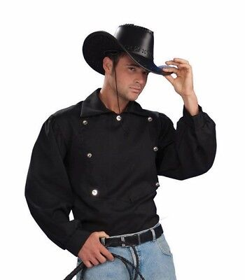 Wild Western TEX SHIRT Adult Costume Halloween Sheriff Cosplay-OS           B327 - Western Halloween Costumes