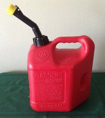 Vintage Blitz pre ban 2 gallon 8 ounce gas can model 50810 EUC
