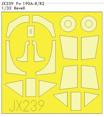Eduard Paint Mask JX240 1/32 Focke-Wulf Fw-190A-8/R2 TFace Revell