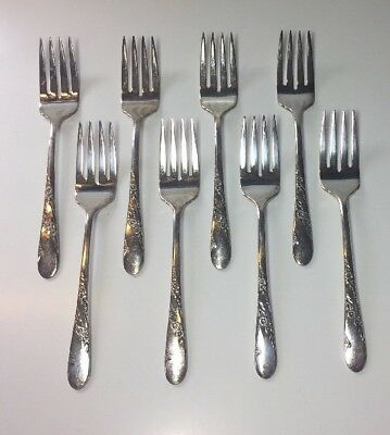 2 Oneida Community Coronation Silverplate Salad Forks 6 3//8in flatware