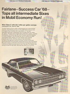 1963 Ford Fairlane V8 Classic Advertisement Ad P80