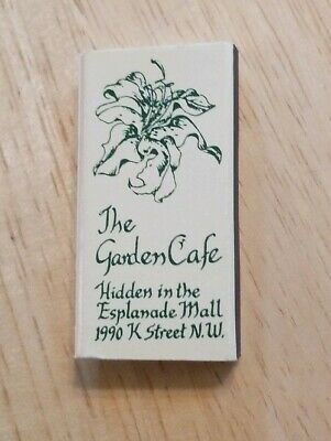 Vintage Matchbox The Garden Cafe Esplanade Mall Kenner Lousiana Restaurant (The Gardens Mall)