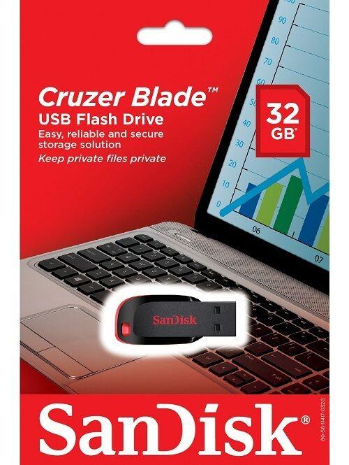SanDisk 32GB USB SD CZ50 Cruzer Blade 32G USB 2.0 Flash