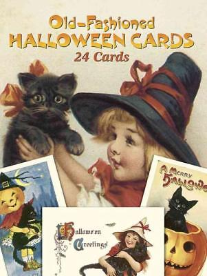OLD-FASHIONED HALLOWEEN POSTCARDS - OLDHAM, GABRIELLA - NEW PAPERBACK BOOK - Old Children's Halloween Books