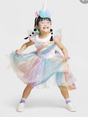 Rainbow Unicorn Girls' Sz 7-8 Halloween Costume, Hyde & Eek! Boutique