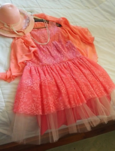 Vintage Retro Dress - Peach