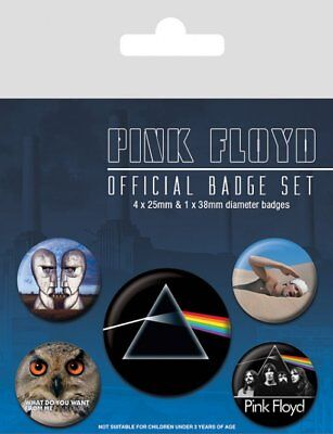 Button Badge 5er Pack PINK FLOYD - Dark Side Of The Moon 1x38mm & 4x25mm BP80489