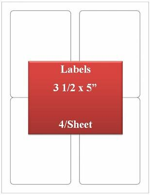 Ul Labels Laserinkjet Premium White Strong Adhesive 3 12 X 5 1000 Lables