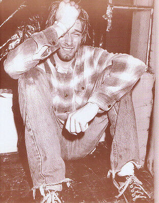 Kurt Cobain Poster Print - Nirvana 1990 - Cry On Stage In Seattle - 11x14 Sepia