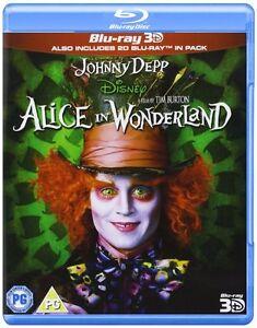 Disney Alice In Wonderland (3D Blu-ray, 2010, 2-Disc Set) 3D Bluray