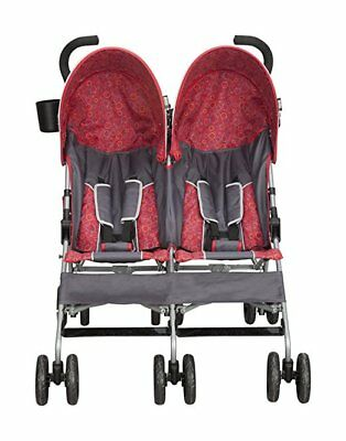 Double Stroller Twins Side By Side Boys Girls Lightweight Frame Compact Umbrella for sale  Des Moines