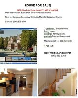 Townhouse at Winston Churchill/Erin Centre for Sale Mississauga