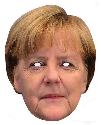 Angela Merkel Promi 2D Karten Party Gesichtsmaske Kostüm Deutscher - 2 Gesichter Kostüm