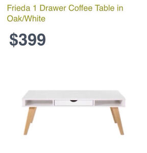 FREEDOM FURNITURE FRIEDA 1 DRAW COFFEE TABLE Chester Hill Bankstown Area Preview