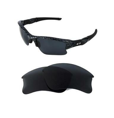 NEW POLARIZED REPLACEMENT BLACK XLJ LENS FOR OAKLEY FLAK JACKET SUNGLASSES