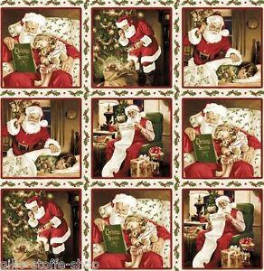 Stoffrest Santa Claus Nikolaus Weihnachten Patchworkstoffe