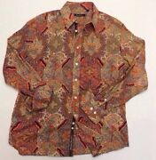 Robert Graham Mens Large Shirt