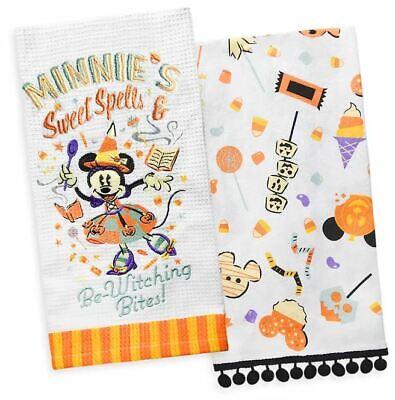 Disney Parks Minnie Mouse Halloween Kitchen Towel Set 2020 Tricks And Treats