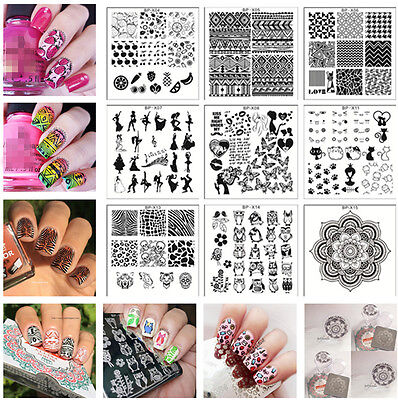 BORN PRETTY Nail Art Stamping Plates Image Stamp Templates   BP-X Series