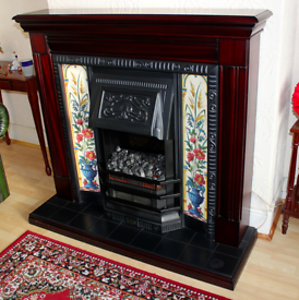 Edwardian style Electric fireplace with surround