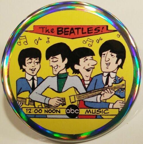The Beatles PIN BUTTON ABC Cartoon John Lennon George Harrison Paul McCartney