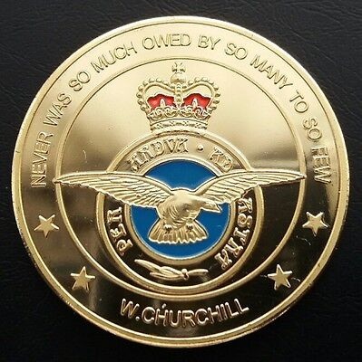 *ROYAL AIR FORCE *Never Was So Much Owed By So Many To So Few Challenge Coin FRE