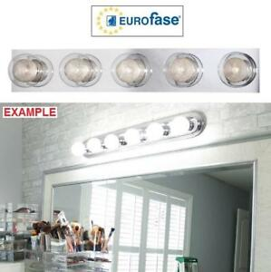 NEW EUROFASE 5-LIGHT BATHBAR 28014-010 223331350 CHROME BATHROOM VANITY LIGHTING