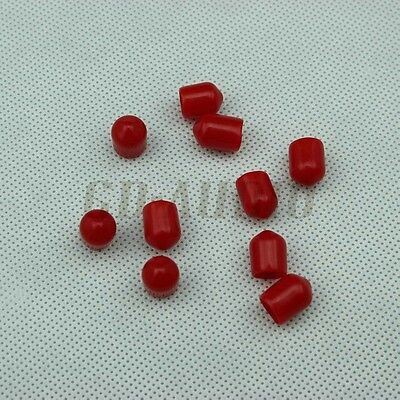 Lot*12 Generic Red Female RCA Jack Protect Caps oxidizing Dust proof Cover tubes