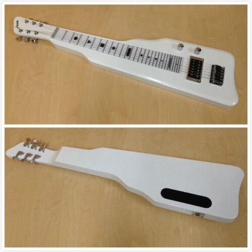 Haze SEG-217WH Solid Poplar Body Electric LAP Steel Guitar,White+Free Gig Bag