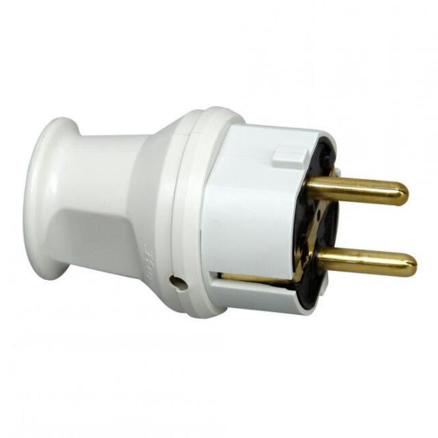 Kopp Schutzkontakt - Stecker mit Knickschutz grau Schuko Elektro Strom Neuware