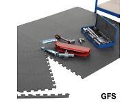 Garage Flooring Set - Pack Of 6 Interlocking Tiles 600w x 600d mm With Black Edges