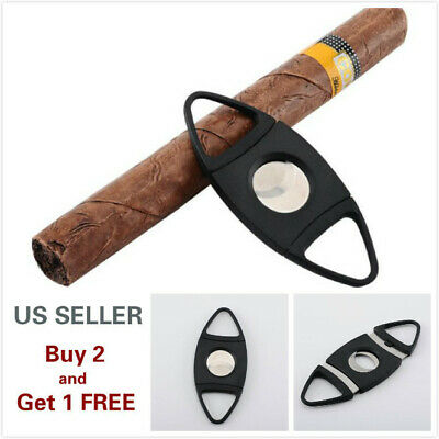 Double Blades Stainless Steel Cigar Cutter Pocket Knife Scissors