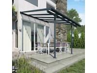 Patio Canopy Awning Smoking Shelter Gazebo Lean To