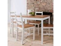 White Natural Pine Dining Table