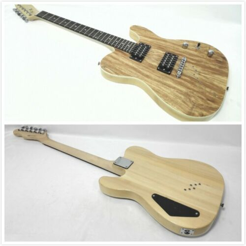 Haze HSTL 19210 Solid Body Electric Guitar,Spalted Maple Veneer,H-H Pickups+Bag