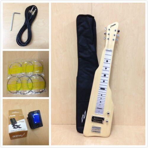 Haze SEG-217N Solid Poplar Body Electric LAP Steel Guitar,Natural+Free Gig Bag